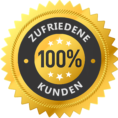 Zufriedene Kunden Emblem Dennis Bruder Webdesign