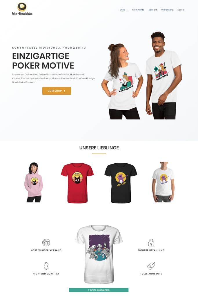 Poker- Onlineshop Webdesign und Online-Marketing von Dennis Bruder